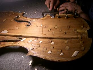 Restauración de un violín