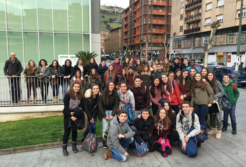The Iruinea Pamplona students