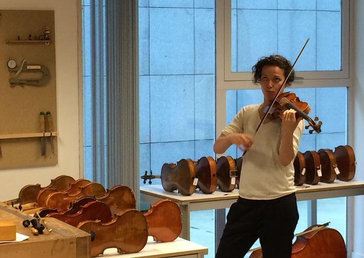 Carolina Kurkowski, concertino de la BOS, Orquesta Sinfónica de Bilbao.