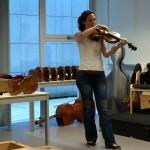 Leire Moreno, viola de la BOS, Orquesta Sinfónica de Bilbao.