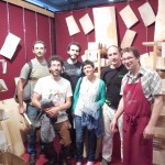 Students and teacher with Andreas Pahler, Alpen Tonholz