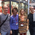 Luis Artola (BELE), Andrea Zanré and Elisa Scrollavezza from the Parma School of Violin-Making and Javier Guraya (BELE)