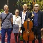 Luis, Lena, Andreas Hansel y Agustin