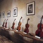 Contemporary violin making exhibition at the Stradivariazione headquarters at  Casa Stradivari at the 57 in Corso Garibaldi