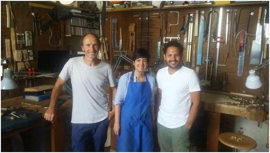 Luis, Arantza y Ricardo Grisales