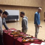 Listening tests: once finished, looking at the instruments