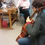 Rocio with Agu`s cello