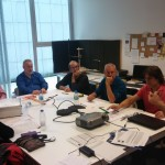 First international meeting of the Bilbao Project. Left to right: Claudia Fritz, Andrea Ortona, Geroge Stoppani, Roberto Jardon and Unai Igartua.