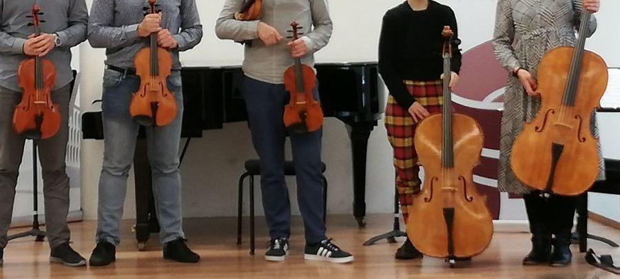 Violins, violas and cellos on loan